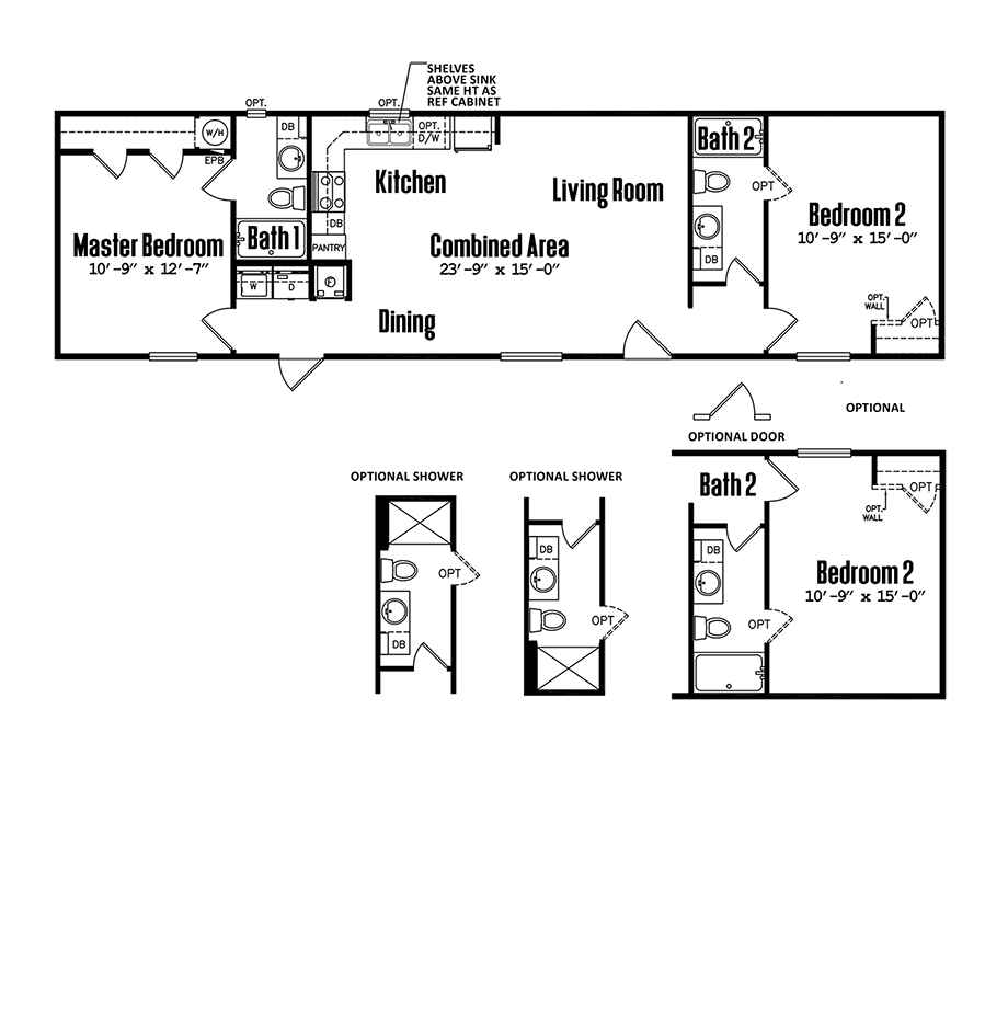 1660-22A2 Bedroom Home