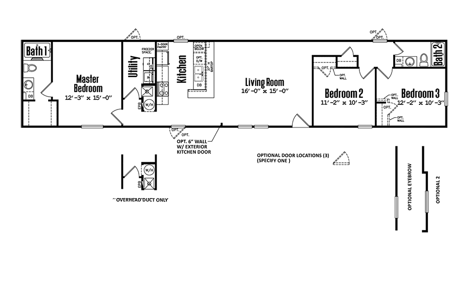 Legacy 1680-32ASinglewide Home Floorplan