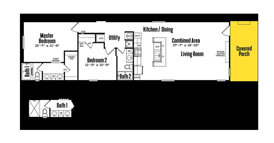 1864-22A2 Bedroom Home