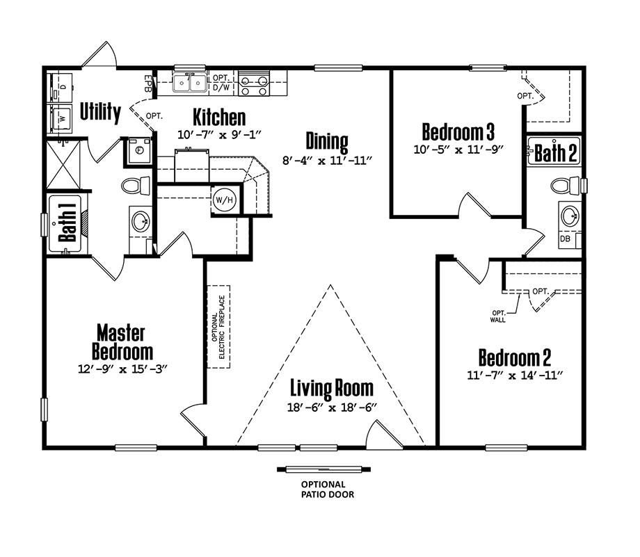 3248-32B3 Bedroom Home
