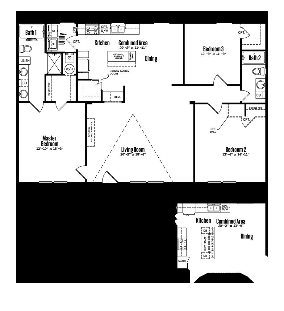 3252-32C3 Bedroom Home