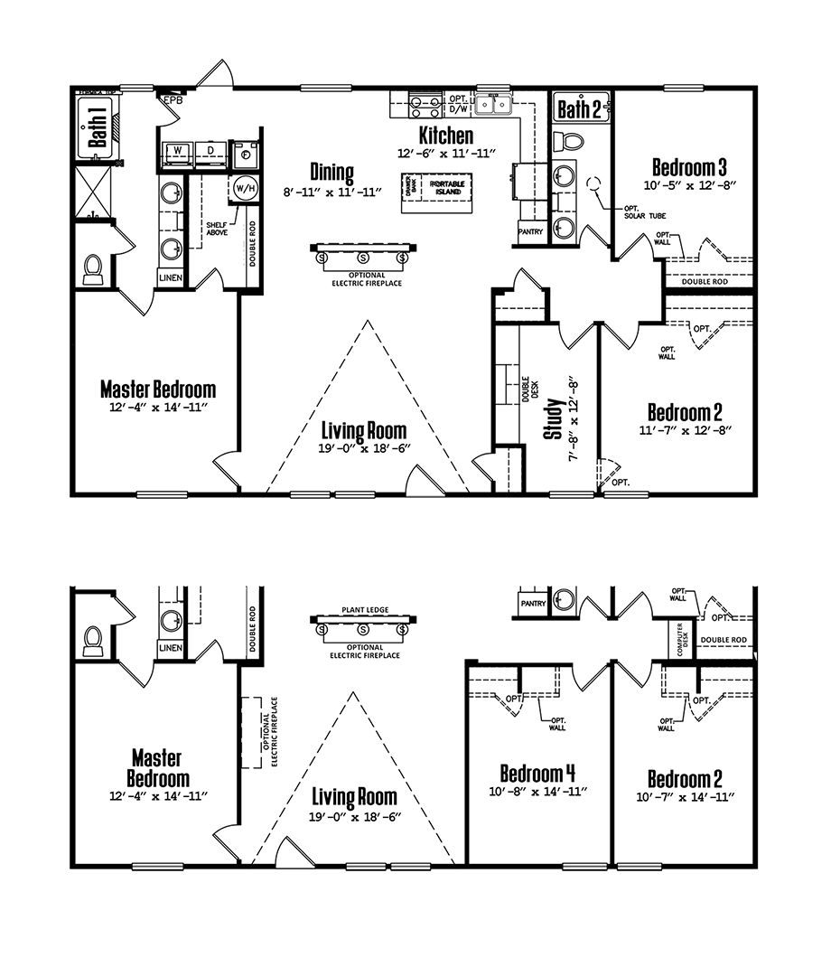 Legacy 3256-32JDoublewide Floorplan