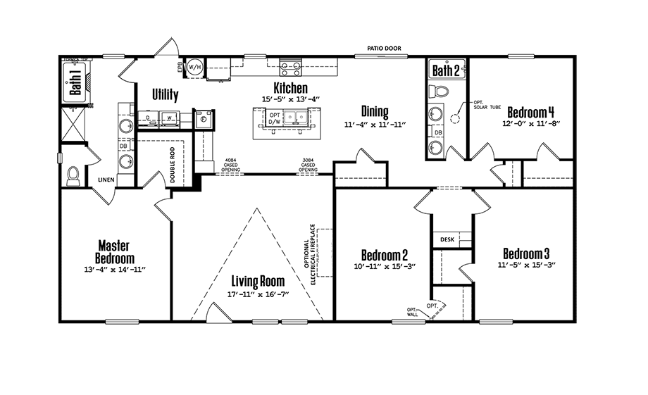 Legacy 3256-32KDoublewide Floorplan