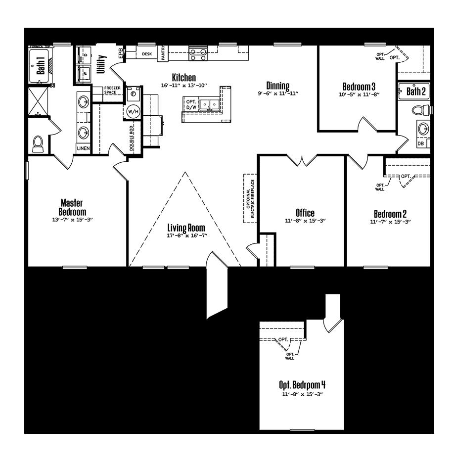 3260-32A3 Bedroom Home