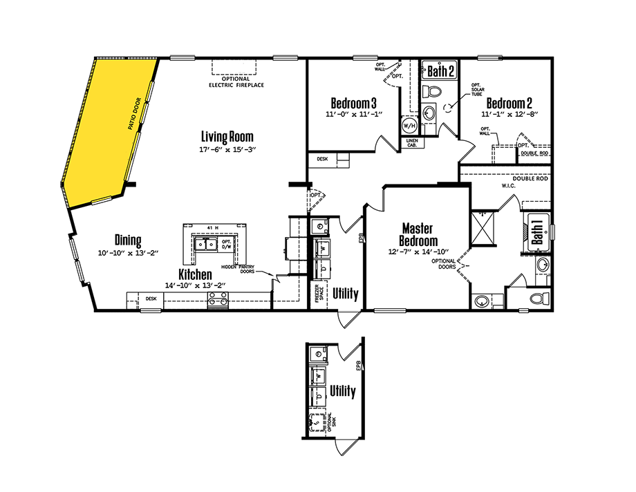 3264-32BP3 Bedroom Home