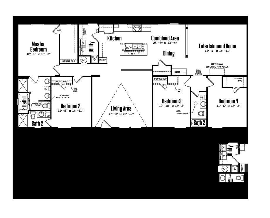 3272-43B4 Bedroom Home