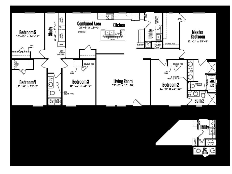 3272-53A5 Bedroom Home