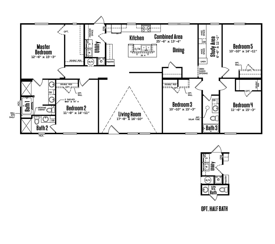 3272-53B5 Bedroom Home
