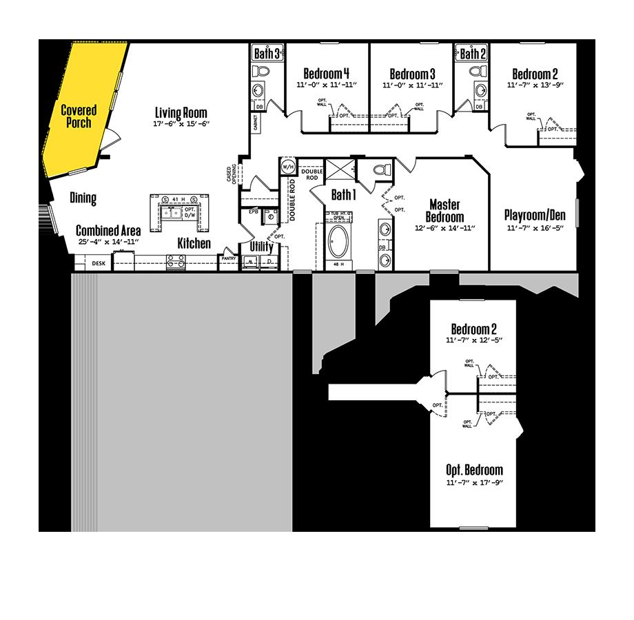 3276-43BP4 Bedroom Home