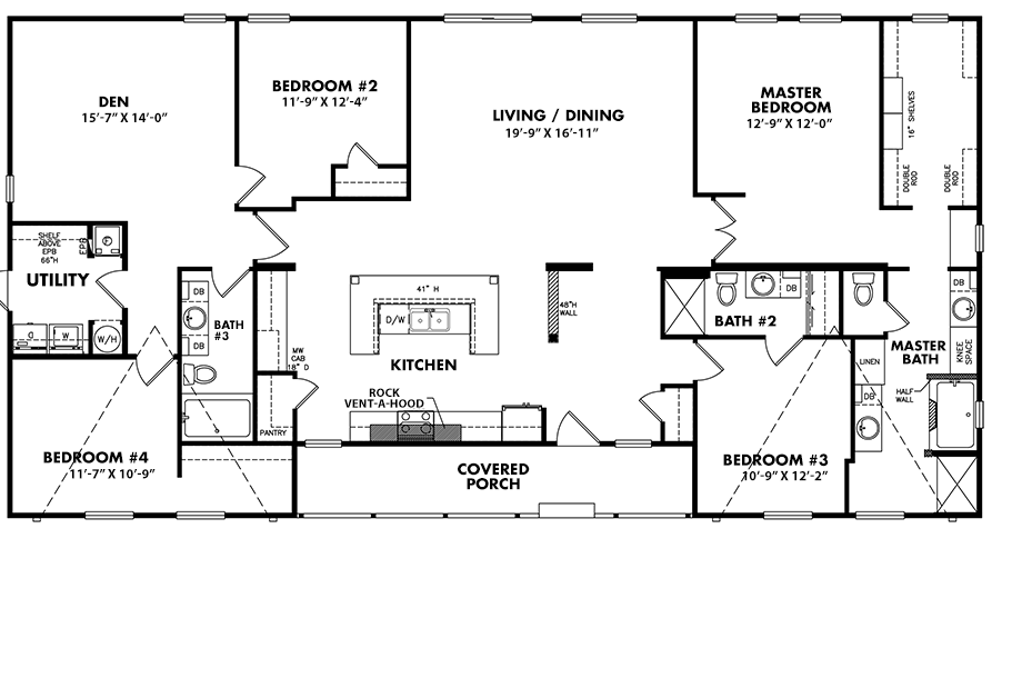 3672-43B4 Bedroom Home