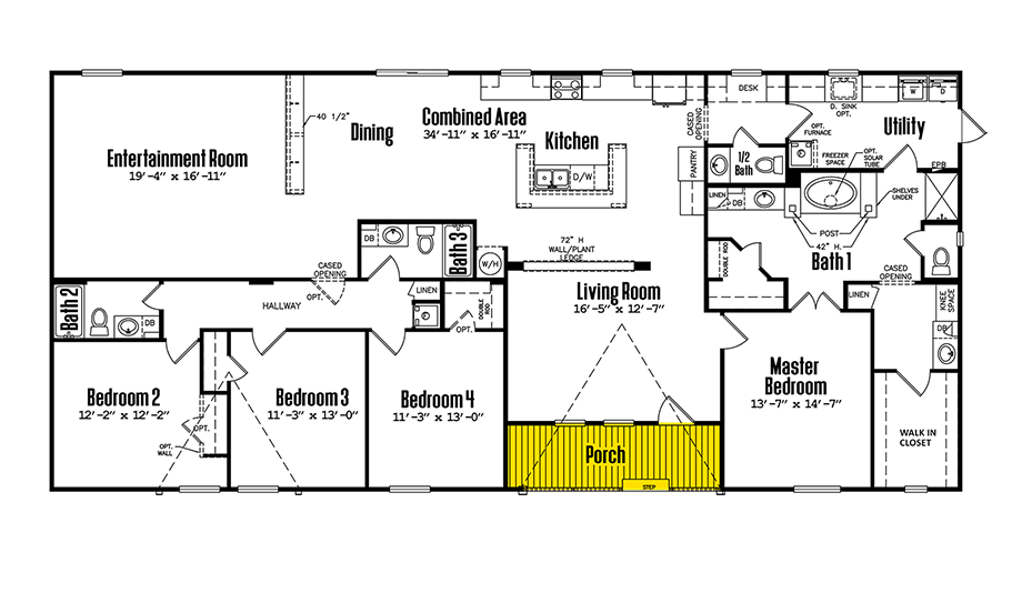Floorplan of Legacy Housing Model # 3680-435FLPA