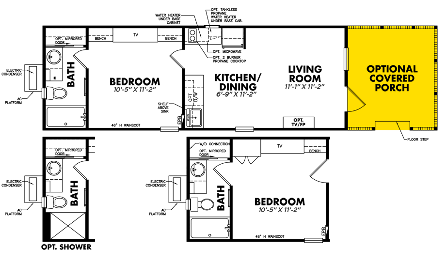 Floorplan of Legacy Housing Model # S-1234-11FLA