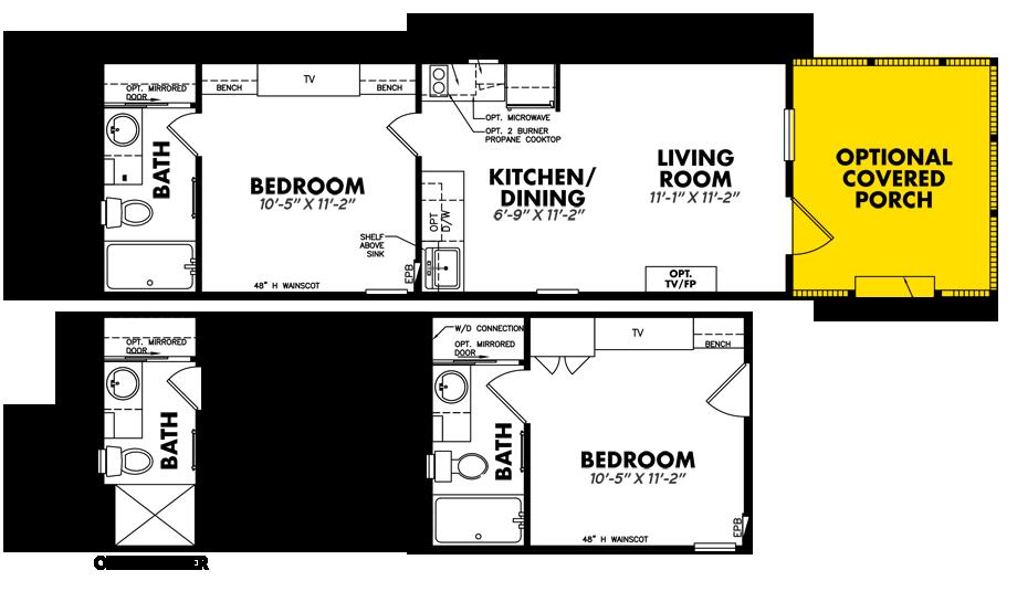 Tiny Hacienda1 Bedroom Home