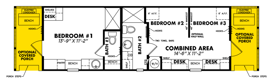 Legacy S-1234-32ATiny Guesthouse Floorplan