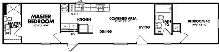 Legacy S-1264-22ATiny Guesthouse Floorplan