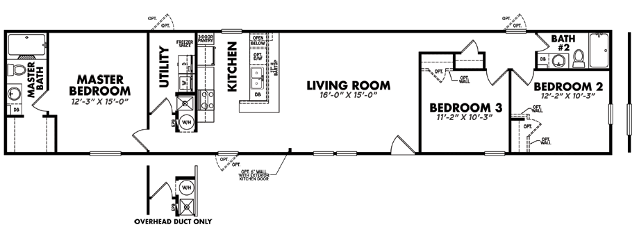 S-1680-32A3 Bedroom Home