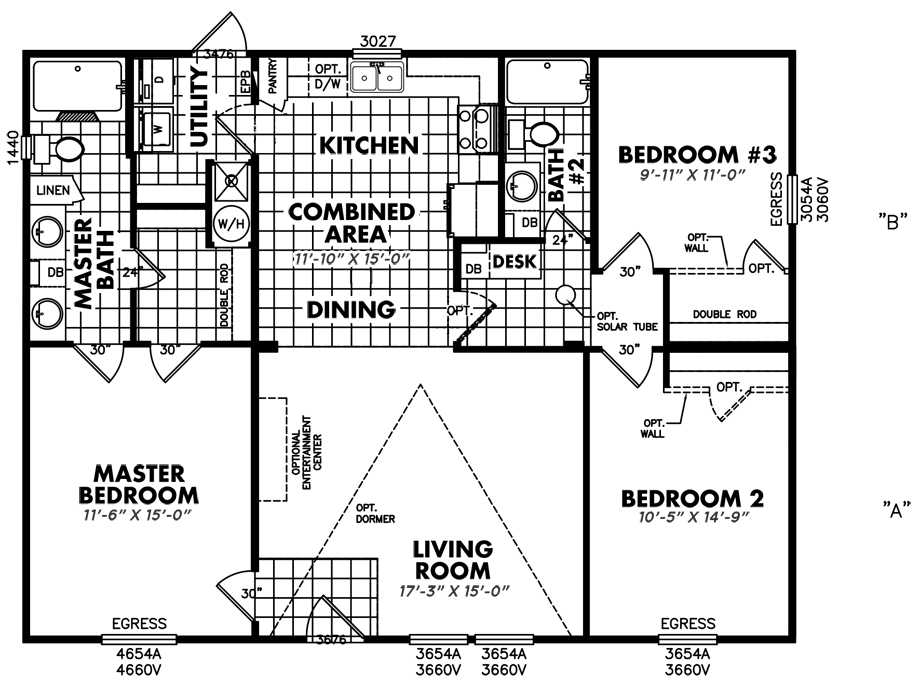 S-3244-32A3 Bedroom Home