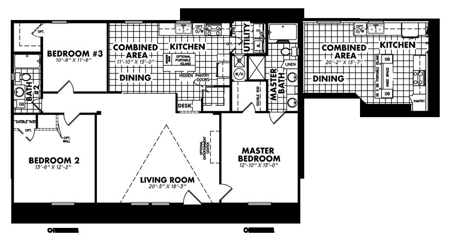 S-3252-32D3 Bedroom Home