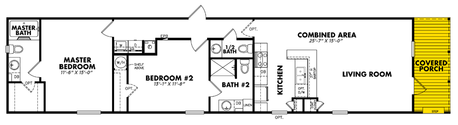 U-1676-225FLPA2 Bedroom Home