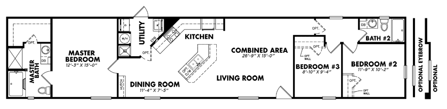 U-1680-32C3 Bedroom Home