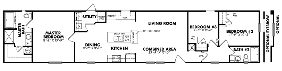 U-1680-32J3 Bedroom Home