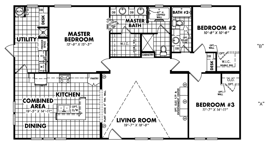 Legacy U-3256-32EDoublewide Home Floorplan