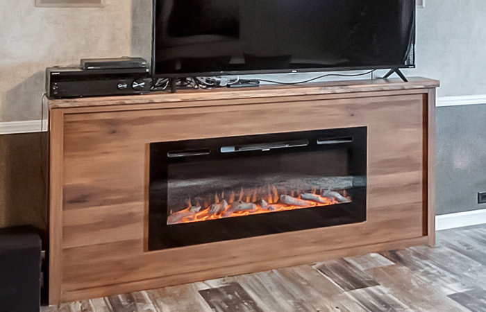 LED 45-inch Electric Fireplace (built in)
