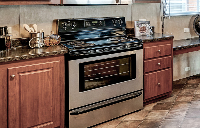 Stainless Steel Gas Range Self-Cleaning