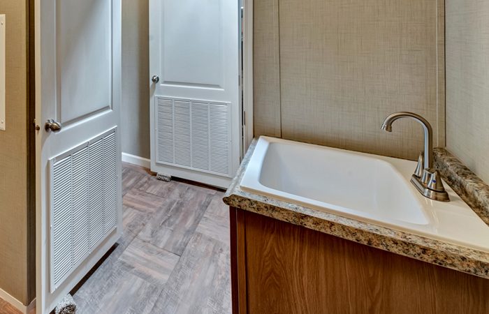 Utility Room Laundry Sink w/ Base Cabinet